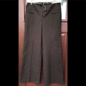 NWT New Chocolate Brown Wool Blend Wide Leg Pants